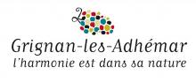 Logo de l'appellation Grignan-les-Adhémar et son slogan