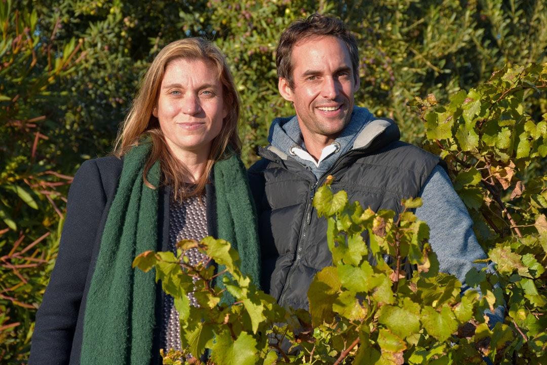 Anne-aël et Sébastien vignerons du Domaine vinicole du château de la Robine
